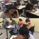 Alunos do 3º ano do Ensino Médio participam de simulado do Enem